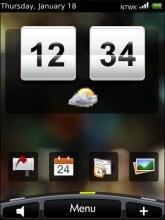 Interfaccia Hero su BlackBerry