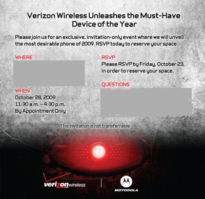 Droid event
