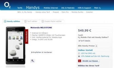 Motorola Mileston a 549€