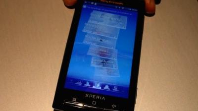 Interfaccia Sony Ericsson X10