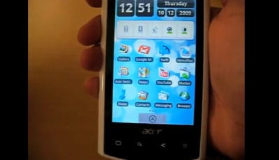 Acer Liquid avrà Android 2.0