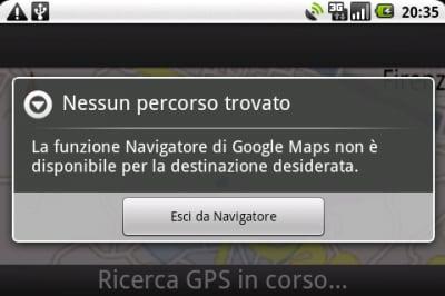 Google Maps Navigatore bloccato