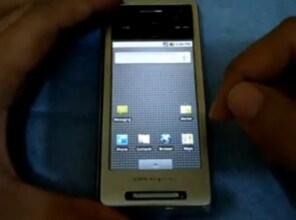 Sony Ericsson Xperia X1 con Android