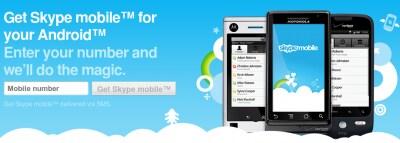 Skyper mobile per Android