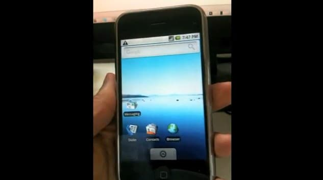 Android su iPhone 3G