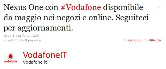 Nexus One con Vodafone Italia
