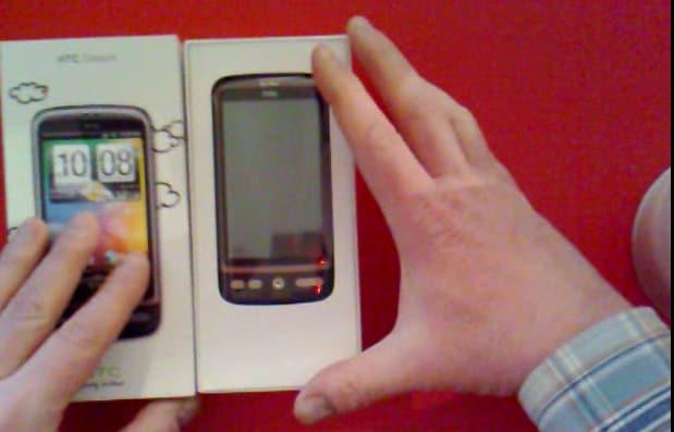 Unboxing HTC Desire