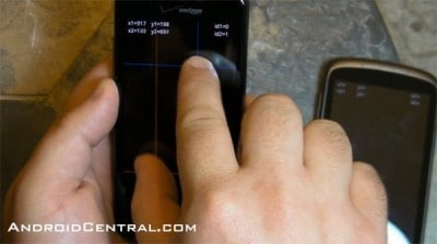 Droid Incredible multitouch
