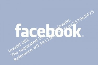 Facebook Invalid URL