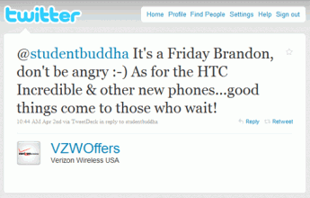 Verizon, HTC Incredible