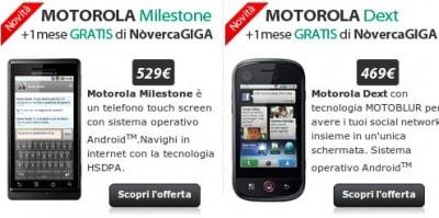 "Milestone, Dext e Backflip, Nòverca cala il ""tris d'assi"" di Motorola"
