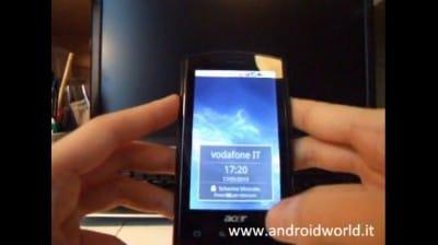 Videoprova Acer Liquid di Vodafone