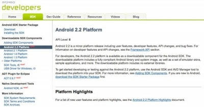 Android SDK 2.2