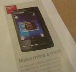 Xperia X10 Mini con Vodafone