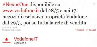 Ritardi nexus One Vodafone
