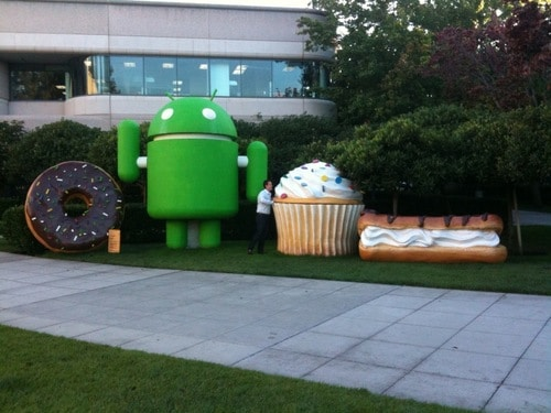 google-android-statues