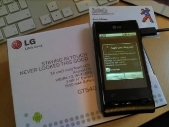 LG Optimus rooted
