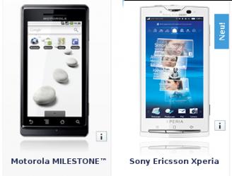 Motorola Milestone e X10