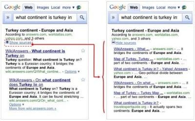 Risposte brevi da Google