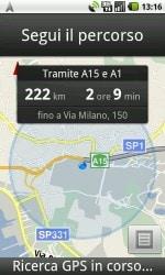 Google Maps Navigation in Italia