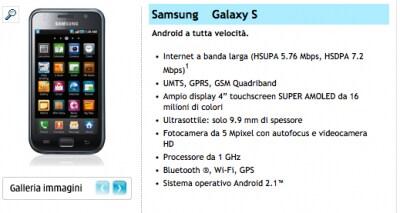 Galaxy S con 3