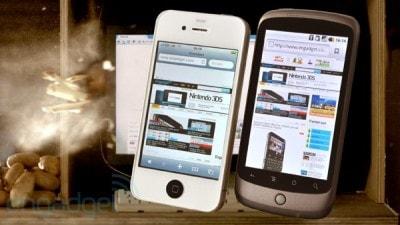 Browser test: iPhone 4 vs Nexus One