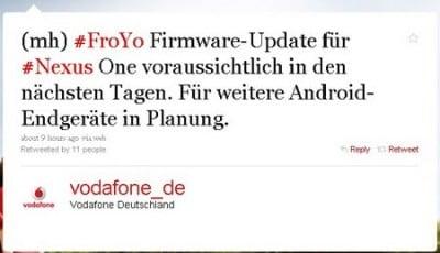 Vodafone Nexus One aggiornamento