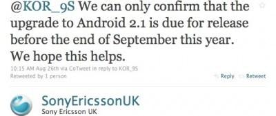 Sony Ericsson conferma Eclair per X10 a Settembre