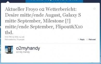 Milestone con Froyo a settembre