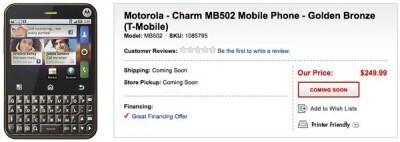 Motorola Charm Best Buy
