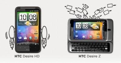 HTC Desire Z e HD