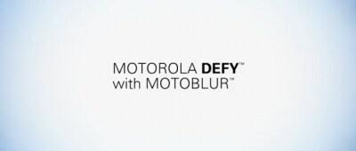Motorola DEFY, video promo