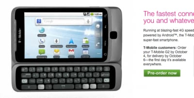 T-Mobile G2 in preordine