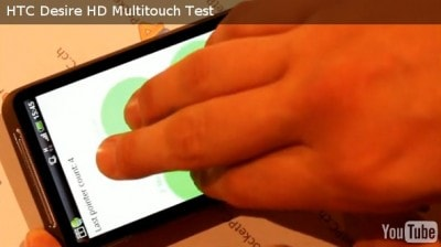 Multitouch Desire HD