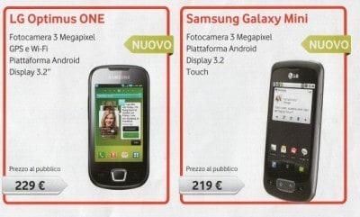 LG Optimus One con Vodafone