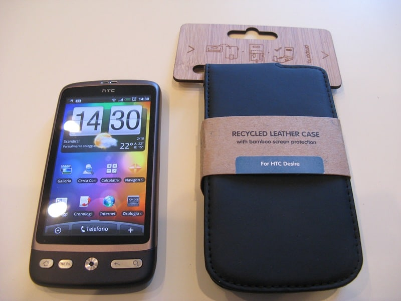 Custodia pelle riciclata HTC Desire