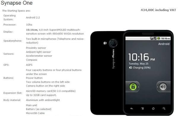 Synapse - smartphone custom