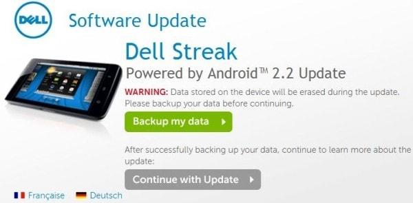 Dell streak Froyo