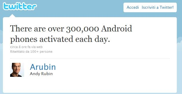 andy rubin 300000 new device a day