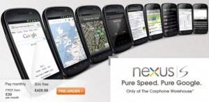 Nexus S prezzo UK