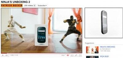 Ninja Unboxing Galaxy S