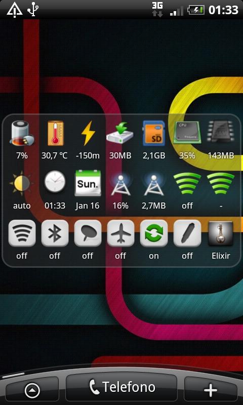 Elixir Widget - tutte le icone