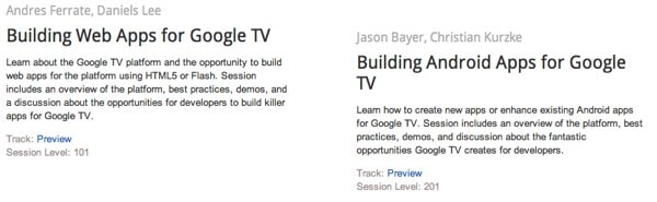Google IO 2011 Google TV Android