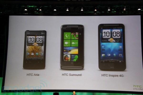 HTC Inspire 4G fa la sua prima apparizione