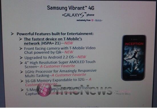 Rumor: Samsung Vibrant 4G arriva il 23 Febbraio?