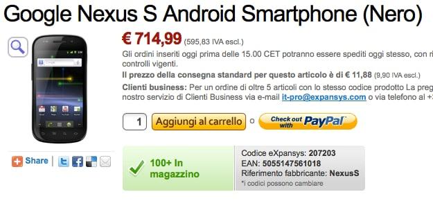 Nexus S su Expansys