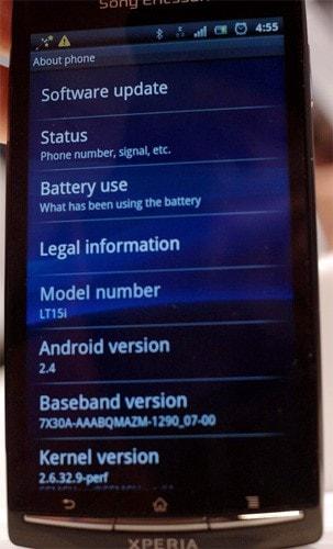 Android 2.4 su Xperia Arc