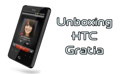 HTC Gratia, Unboxing