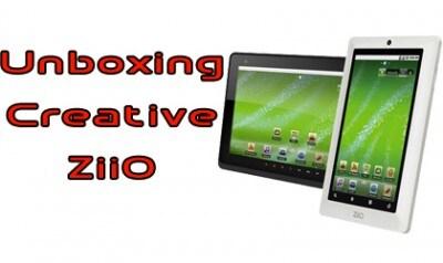 Unboxing Creative ZiiO