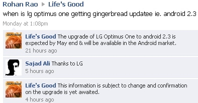 LG-Optimus-One-P500-Android-2.3 Gingerbread-update maggio